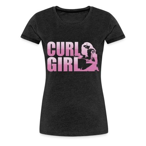 CURL GIRL rosa - Frauen Premium T-Shirt