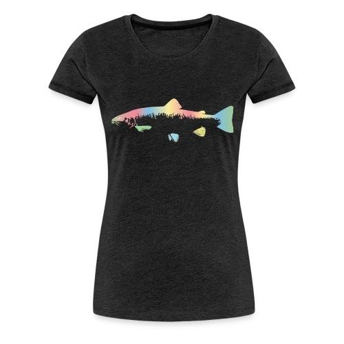 Rainbow trout - Premium T-skjorte for kvinner