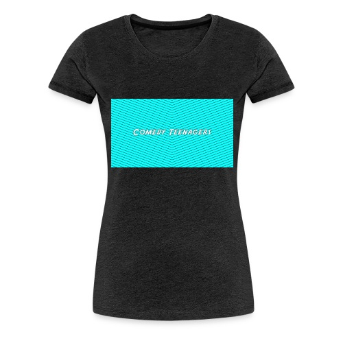 Light Blue Comedy Teenagers T Shirt - Premium-T-shirt dam