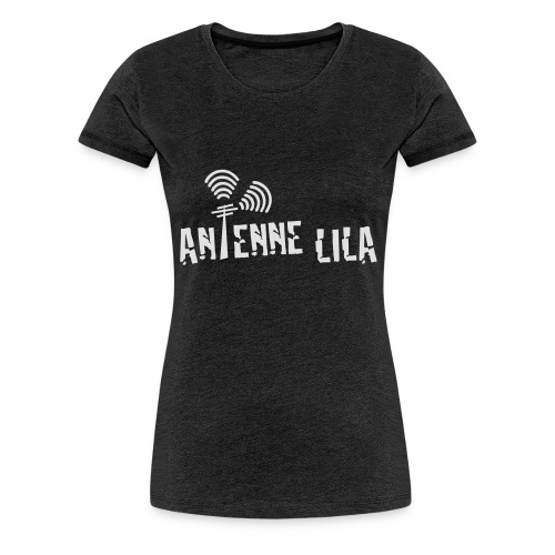 logo quer weiss 1c - Frauen Premium T-Shirt