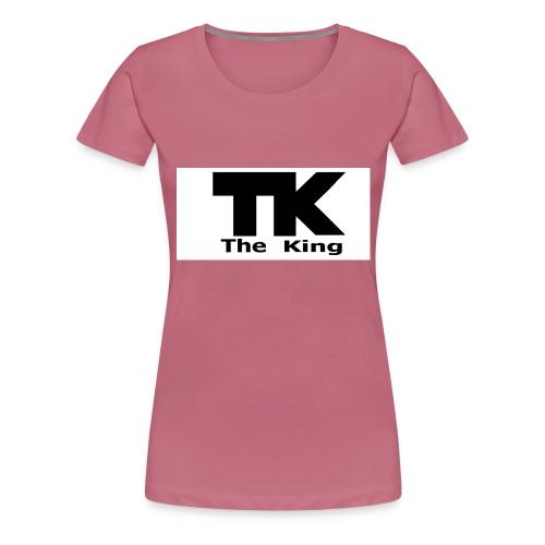 The King med ram - Premium-T-shirt dam