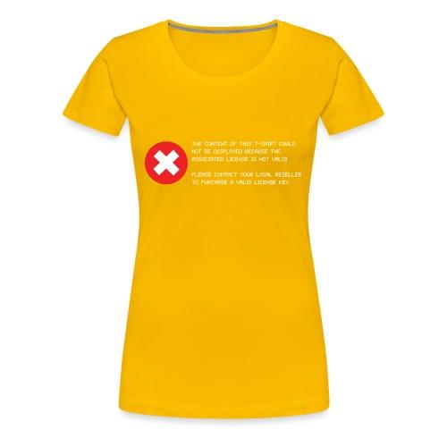 T-shirt Error - Maglietta Premium da donna