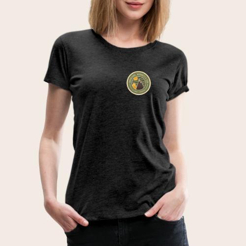 Mountains, Marmots & Sun - Badge - T-shirt Premium Femme