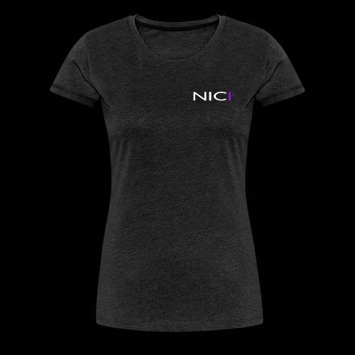 NICI logo WHITE - Naisten premium t-paita