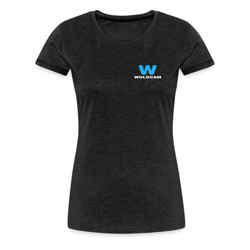Logo Bryst Hvit - Premium T-skjorte for kvinner
