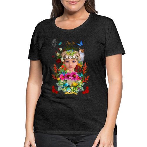 Lady spring by t-shirt chic et choc (dark & black) - T-shirt Premium Femme