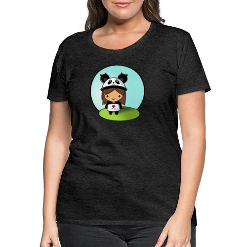 Panda tjej! - Premium-T-shirt dam