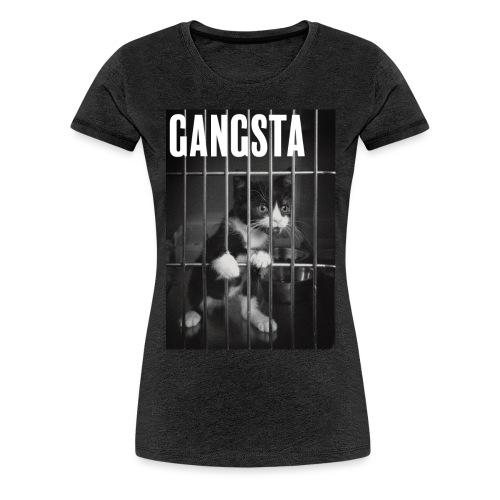 Gangsta cat - T-shirt Premium Femme