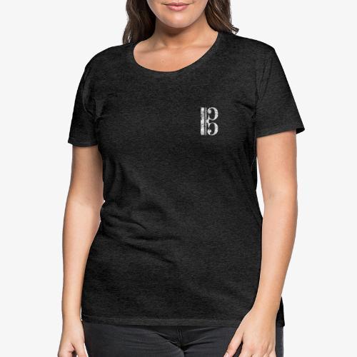 Altschlüssel, Bratschenschlüssel, Tenorschlüssel - Frauen Premium T-Shirt