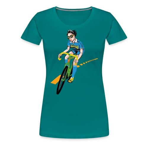 The Bicycle Girl - Frauen Premium T-Shirt