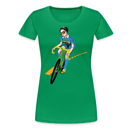 The Bicycle Girl - Frauen Premium T-Shirt