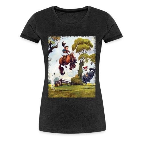 Thelwell Cartoon Pony Rodeo - Frauen Premium T-Shirt