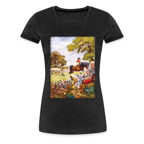 Thelwell Cartoon Pony Turnier - Frauen Premium T-Shirt