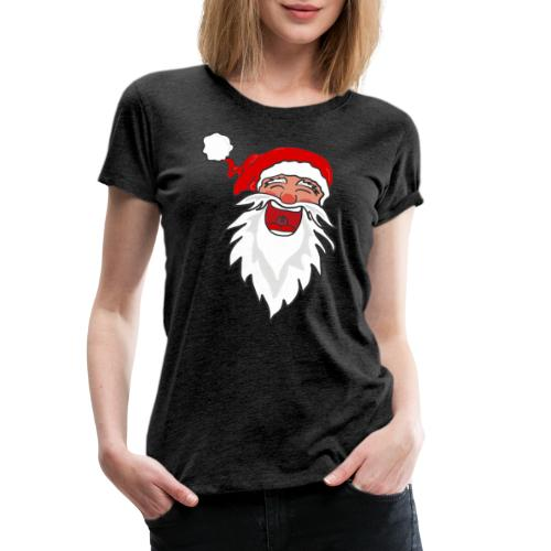 Lachender Nikolaus Santa Clause Weihnachten - Frauen Premium T-Shirt