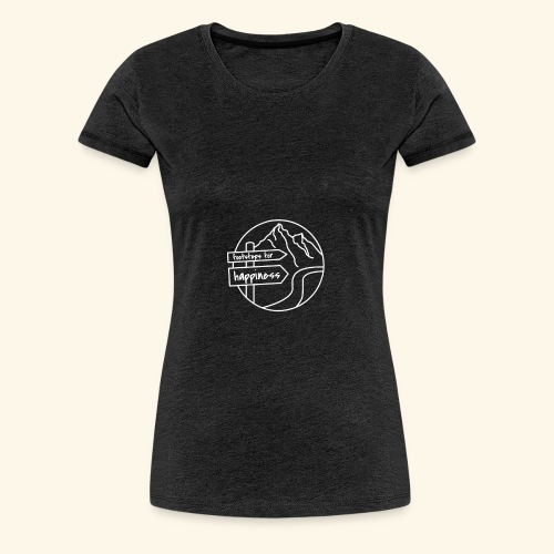 Footsteps for Happiness - Frauen Premium T-Shirt