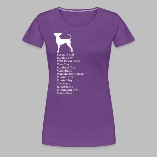 koirat kieletlk - Naisten premium t-paita
