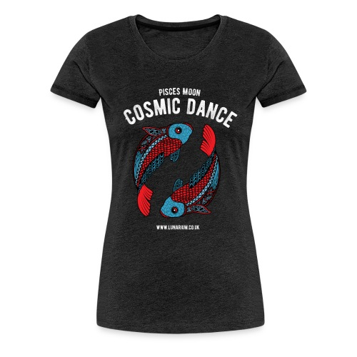 Pisces Moon Dark - Women's Premium T-Shirt