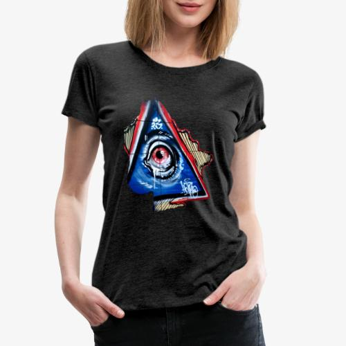 Streetart Auge 4 - Frauen Premium T-Shirt