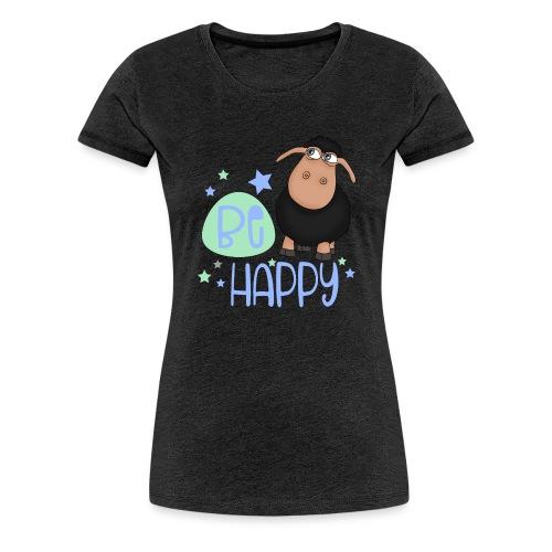 Schwarzes Schaf - Be happy Schaf - Glücksbringer - Frauen Premium T-Shirt