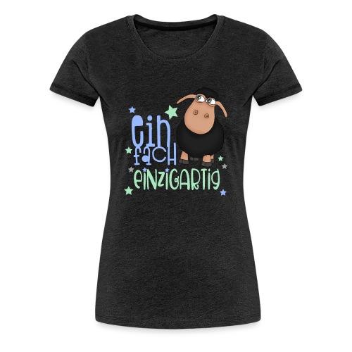 Einfach einzigartig: schwarzes Schaf kleines Schaf - Frauen Premium T-Shirt