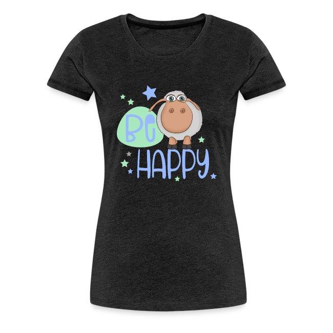 Be happy Schaf - Glückliches Schaf - Glücksschaf