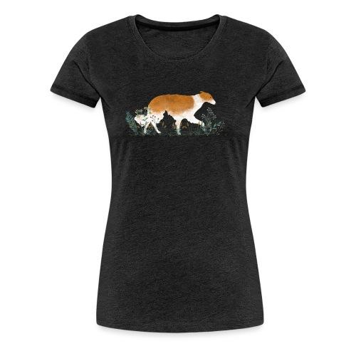 Ein Barsoi auf einer Wiese - Frauen Premium T-Shirt