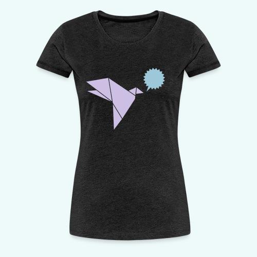 Schwalbe Sprechblase - Frauen Premium T-Shirt