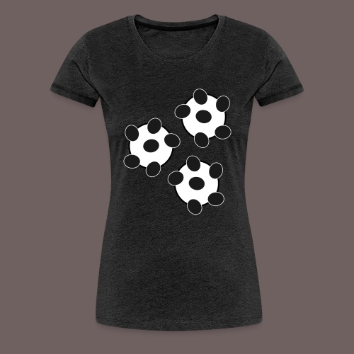 GBIGBO zjebeezjeboo - Fun - Wiggle Wiggle 01 Noir - T-shirt Premium Femme