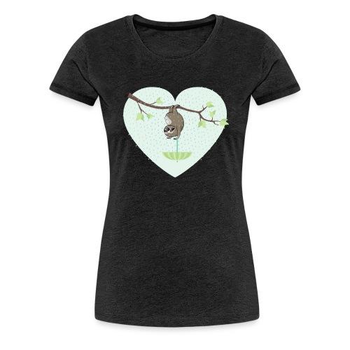 Faultier im Regen - Frauen Premium T-Shirt