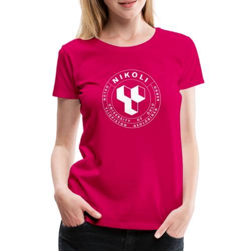 Nikolin valkoinen logo - Naisten premium t-paita