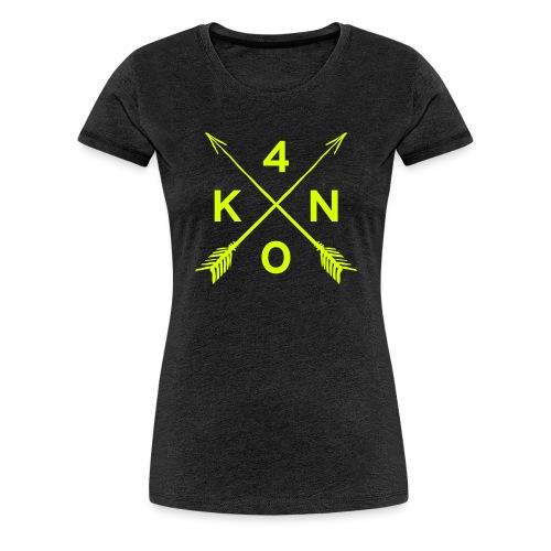 Logo_40knots_weiß - Frauen Premium T-Shirt