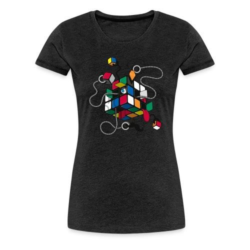 Rubik's Cube Robot Style - Women's Premium T-Shirt