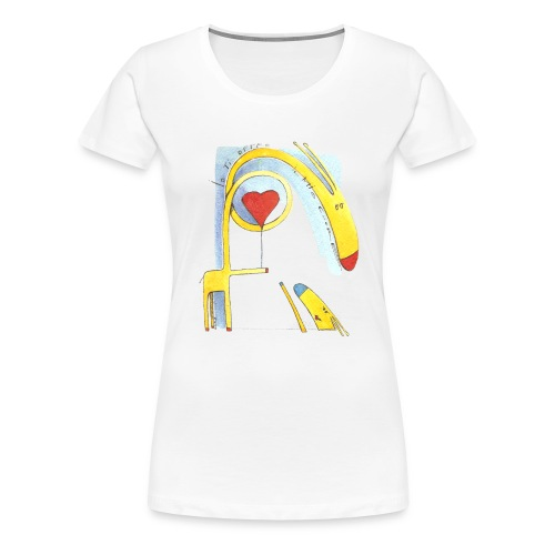 Giraffa innamorata - Maglietta Premium da donna