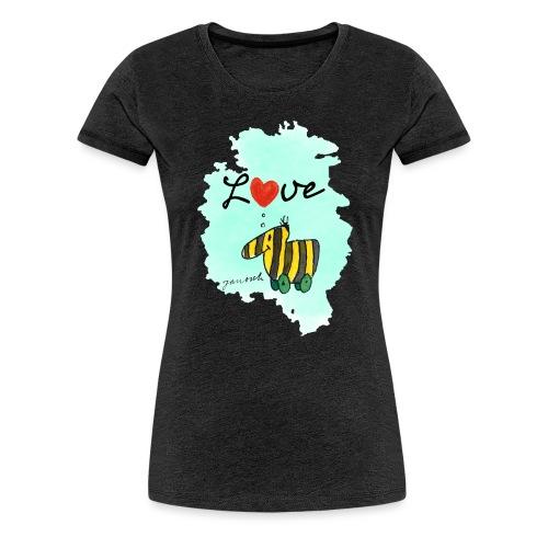 Janosch Verliebte Tigerente Herz Love - Frauen Premium T-Shirt