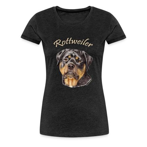 Rottweiler med rasnamn - Premium-T-shirt dam