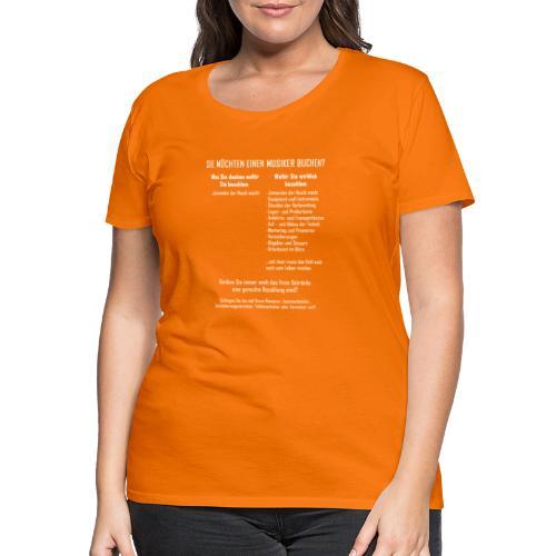 Musiker buchen - Frauen Premium T-Shirt