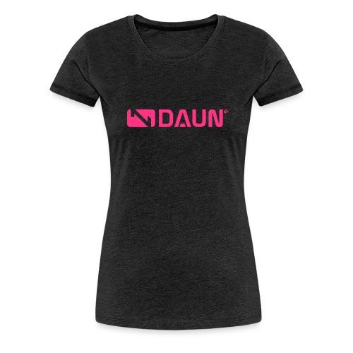daun logo trademark querkant - Frauen Premium T-Shirt