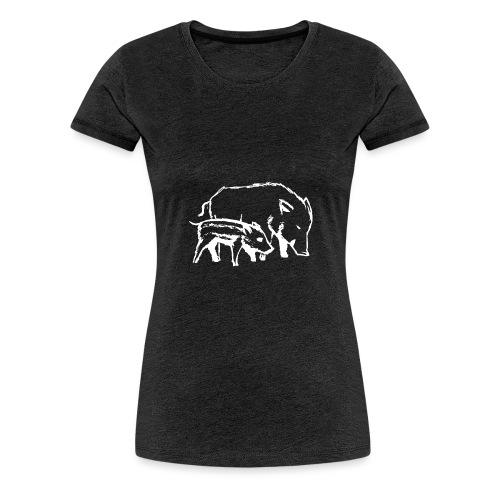 Schweine weiss - Frauen Premium T-Shirt