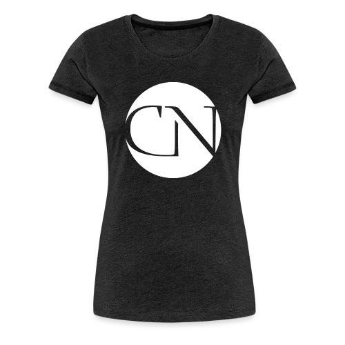 ChiaraNashairaLogoWhite png - Vrouwen Premium T-shirt