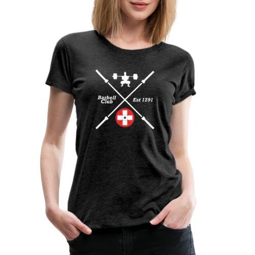 Barbell Club 1291 _ white - Frauen Premium T-Shirt