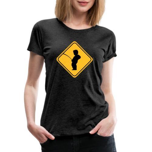 Manneken Pis sign - T-shirt Premium Femme