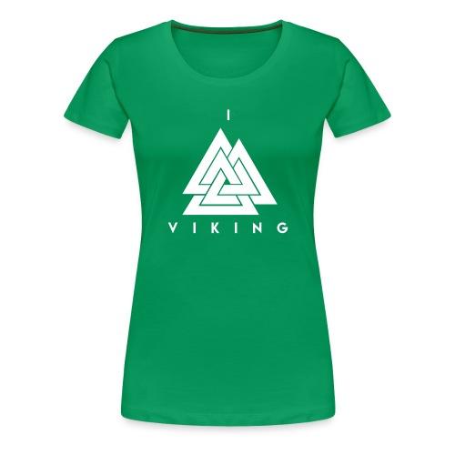 I lov Viking White - T-shirt Premium Femme