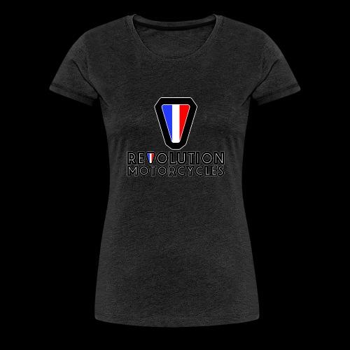 V and Text - T-shirt Premium Femme