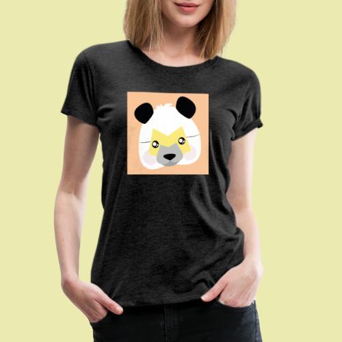 Amazing Super Panda with M mask! - Premium T-skjorte for kvinner