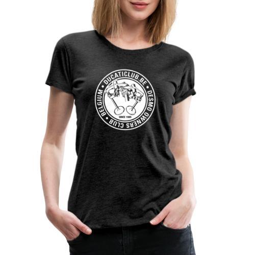 DOC DUCATICLUB.BE ITALIAN FLAG - Vrouwen Premium T-shirt