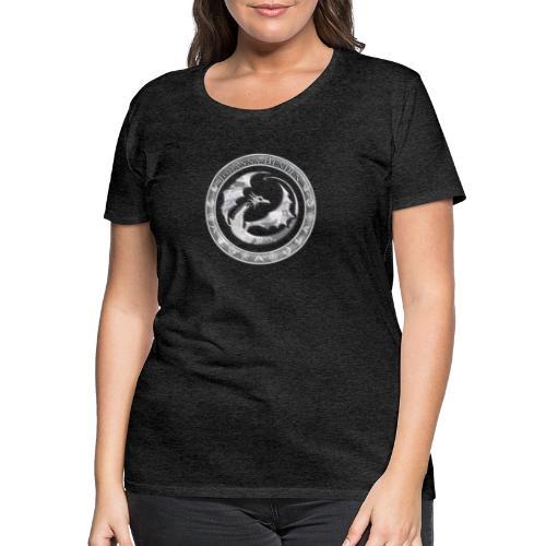 Drachenlogo Silberweiß - Frauen Premium T-Shirt