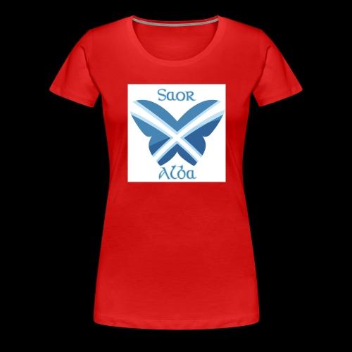 Saor Alba butterfly - Women's Premium T-Shirt