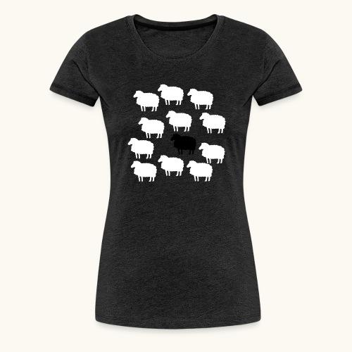 Lustige Schafherde Schwarzes Schaf Geschenkidee - T-shirt Premium Femme