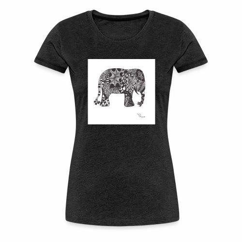 tangle-elephant print - Frauen Premium T-Shirt