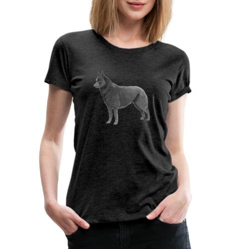 schipperke Ink - Dame premium T-shirt